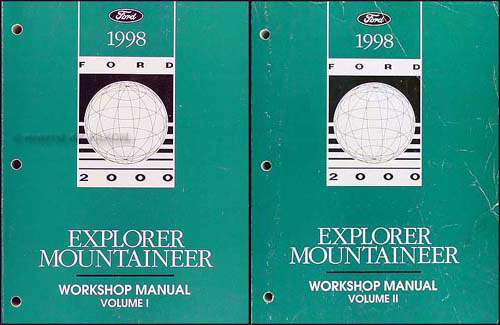 1998 Ford Explorer Mountaineer Repair Manual Original 2 Volume Set