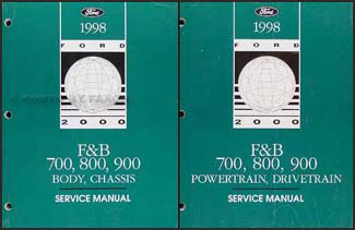 1998 Ford F700 F800 FT900 B700 Truck Repair Shop Manual Set