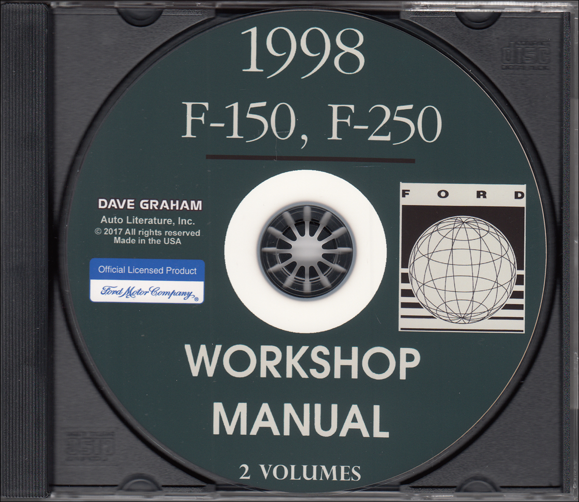 1998 Ford F-150 F-250 Repair Shop Manual on CD-ROM Original