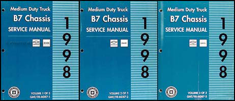 1998 Chevy/GMC B7 Bus Chassis Repair Manual Original 3 Volume Set