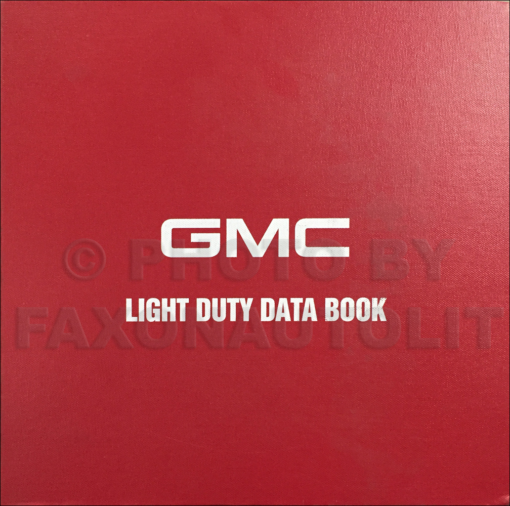 1998 GMC Light Duty Data Book Original