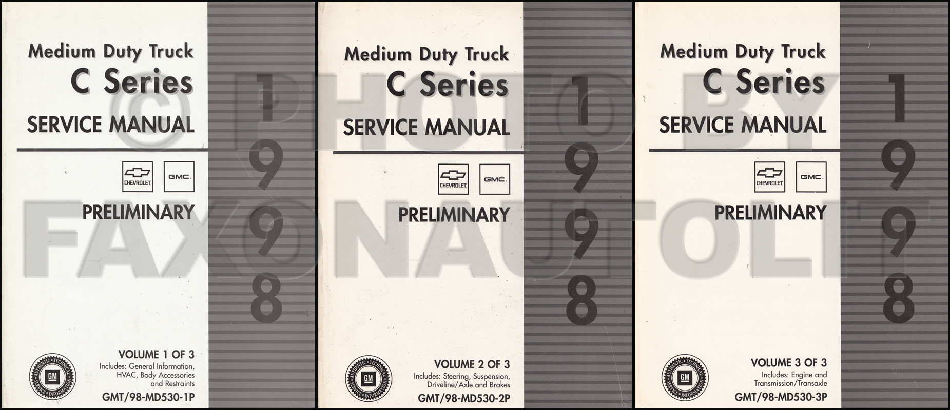 1998 Gmc  Chevy C 7000 Topkick And Kodiak Repair Shop Manual Original Set