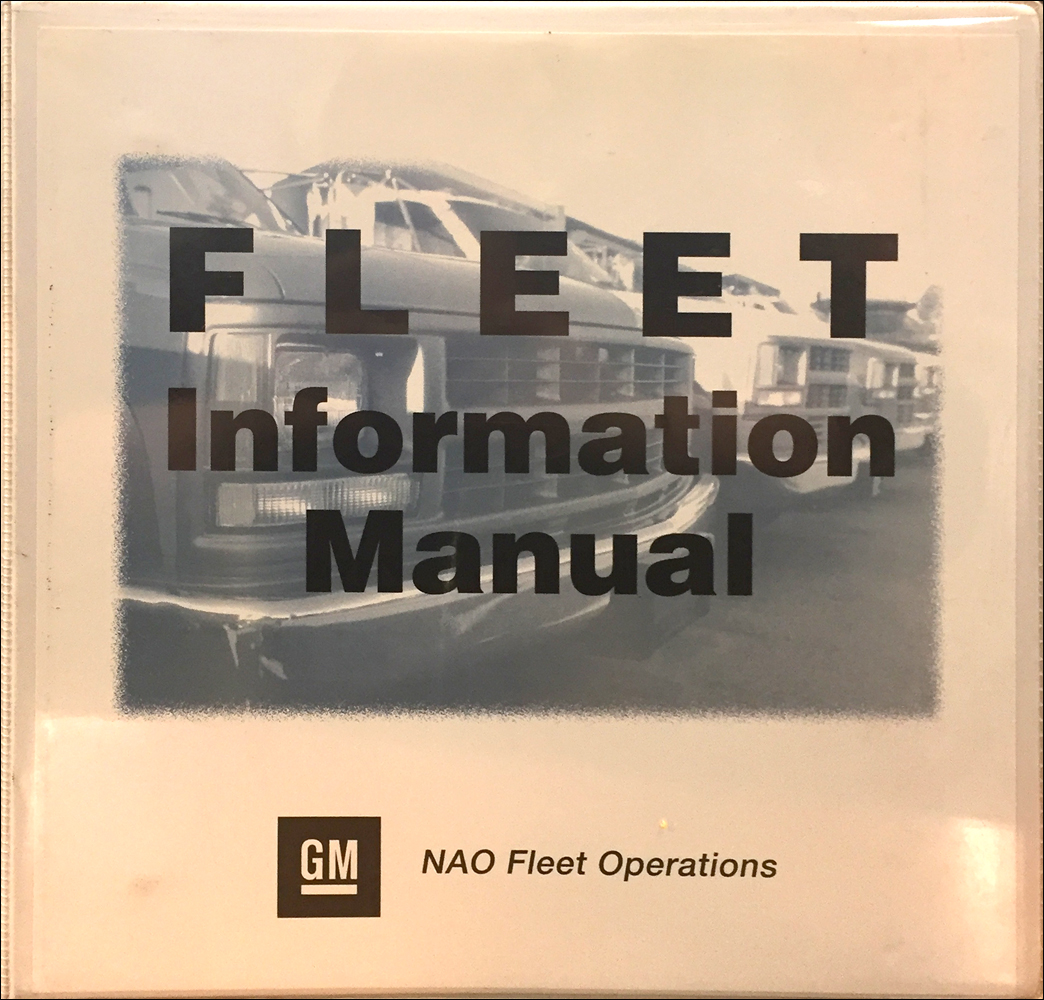 1998 GM Fleet Policies and Procedures Manual Original