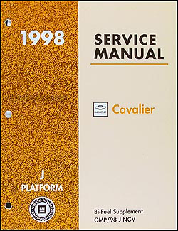 1998 Cavalier Bi-Fuel (CNG) Repair Manual Original Supplement