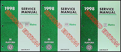 1998 Metro Repair Manual Original 3 Volume Set