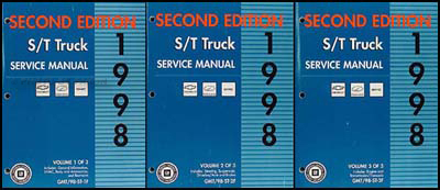 1998 S-10 Sonoma Jimmy Blazer Envoy Bravada Repair Shop Manual Set 2nd Ed.