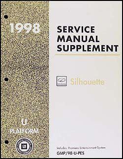 1998 Olds Silhouette Premiere Entertainment System Repair Shop Manual