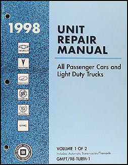 1998 GM Automatic Transmission Overhaul Manual Original