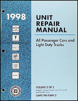 1998 GM Manual stick Transmission & 4x4 Transfer Case Overhaul Manual