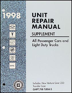 1998 ST 4x4 Transfer Case Overhaul Manual S10 Pickup Blazer Sonoma Jimmy Bravada