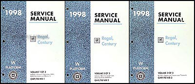 1998 Buick Regal and Century Repair Manual Original 3 Volume Set