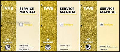 1998 Oldsmobile Intrigue Repair Manual Original 3 Volume Set