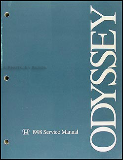 1998 Honda Odyssey Repair Manual Original
