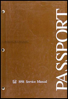 1998 Honda Passport Shop Manual Original