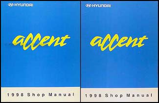 1998 Hyundai Accent Shop Manual Original 2 Volume Set