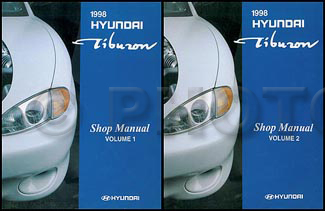 1998 Hyundai Tiburon Shop Manual Original 2 Vol. Set
