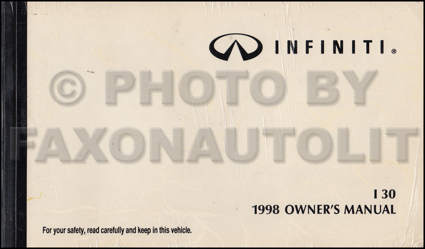 1998 Infiniti I30 Owner's Manual Original