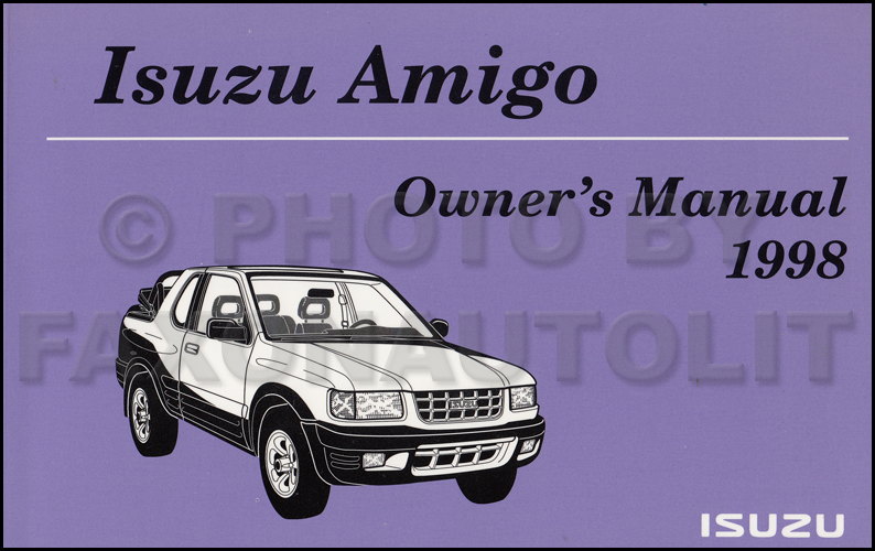 1998 Isuzu Amigo Owner's Manual Original