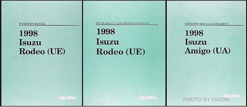 1998 Isuzu Amigo Repair Manual Original Set