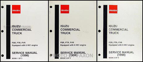 1998-2002 FSR, FTR, FVR, W6, W7 Truck Repair Shop Manual Original 3 Vol Set