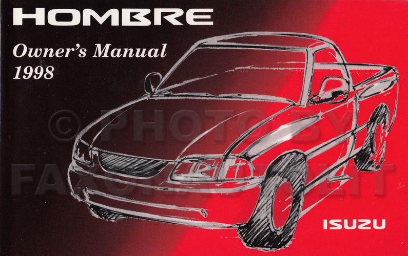 1998 Isuzu Hombre Pickup Truck Owner's Manual Original