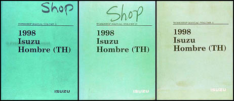1998 Isuzu Hombre Repair Shop Manual Set Original