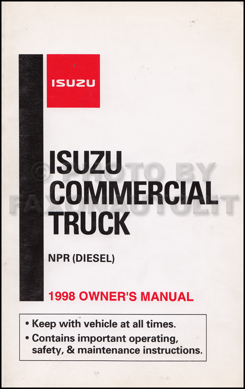 1998 Isuzu NPR Diesel Truck Owner's Manual Original