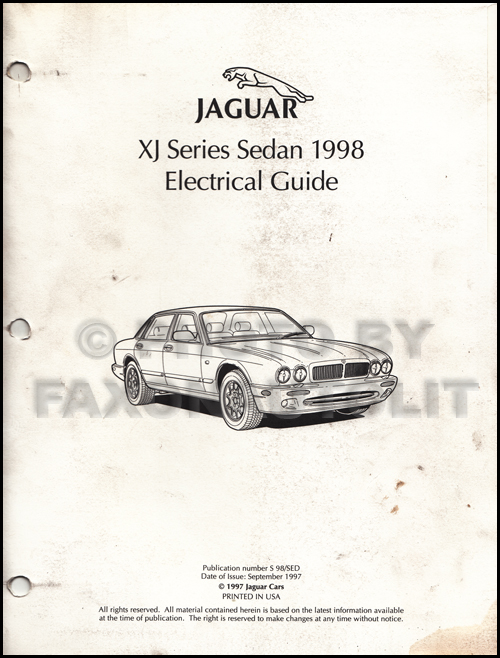 1998 Jaguar Xj8 Electrical Guide Wiring Diagram Original
