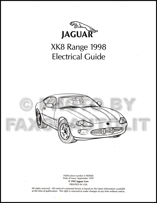 1998 75 jaguar xk8 electrical guide wiring diagram