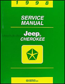 1998 Jeep Cherokee Shop Manual Original