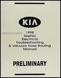 1998 Kia Sephia Electrical Troubleshooting & Vacuum Manual Preliminary