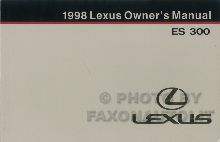 1998 Lexus Es Sc And Ls Features Manual Original