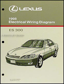 1998 lexus es 300 wiring diagram manual original rh faxonautoliterature com  Lexus Es350 Wiring Diagram