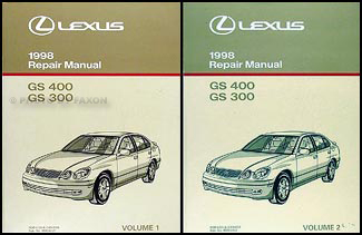 1998 Lexus GS 300/400 Repair Manual Original 2 Volume Set