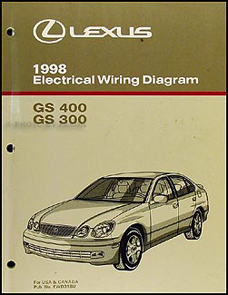 1998 Lexus GS 300/400 Wiring Diagram Manual Original
