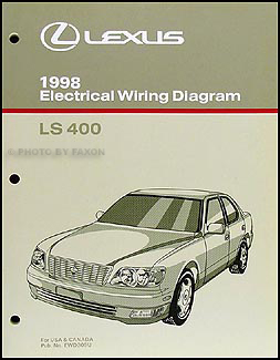 1998 Lexus LS 400 Wiring Diagram Manual Original