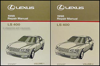 1998 Lexus LS 400 Repair Manual Original 2 Volume Set