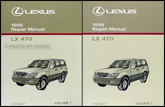 1998 Lexus LX 470 Repair Manual Original 2 Volume Set