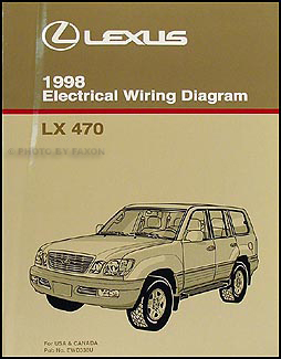 1998 Lexus LX 470 Wiring Diagram Manual Original