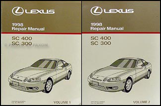 1998 Lexus SC 300/400 Repair Manual Original 2 Volume Set