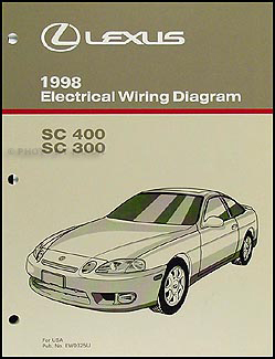 1998 Lexus SC 300/400 Wiring Diagram Manual Original