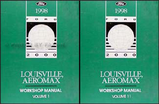1998 Ford Louisville & Aeromax Repair Manual 2 Volume Set Original