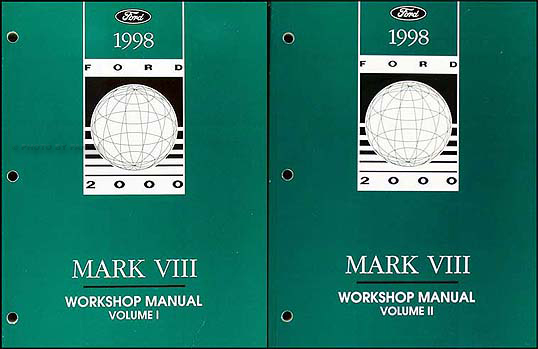 1998 Lincoln Mark VIII Shop Manual Original 2 Volume Set