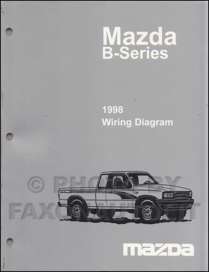 1998 Mazda B4000 B3000 B2500 Pickup Truck Wiring Diagram Manual Original 2  DoorFaxon Auto Literature