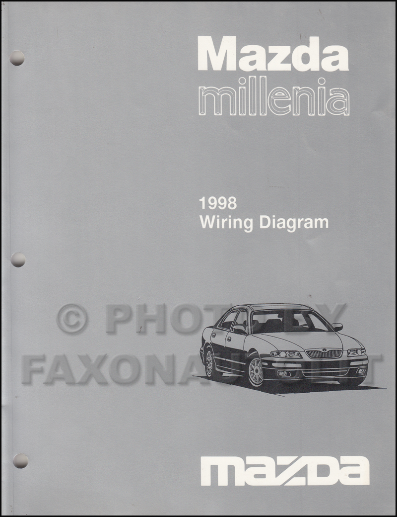 1998 Mazda Millenia Repair Shop Manual Original