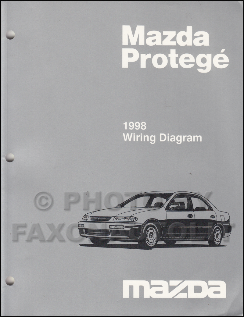 1998 Mazda Protege Wiring Diagram Manual Original | 1998 Mazda Protege Wiring Diagram |  | Faxon Auto Literature