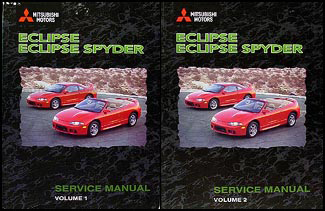 1998 Mitsubishi Eclipse/Eclipse Spyder Repair Manual Set Original