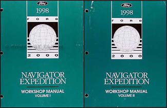 1998 Ford Expedition and Lincoln Navigator Repair Shop Manual Set Original