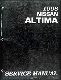 1998 Nissan Altima Repair Manual Original