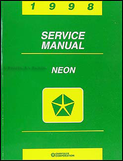 1998 Neon Shop Manual Original